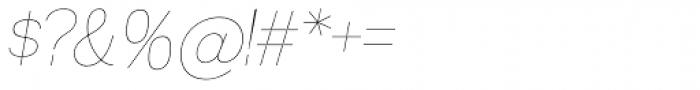 Madawaska UltraLight Italic SC Font OTHER CHARS