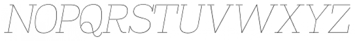 Madawaska UltraLight Italic SC Font UPPERCASE