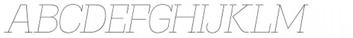 Madawaska UltraLight Italic Font UPPERCASE