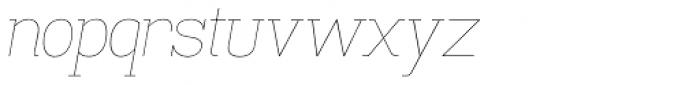 Madawaska UltraLight Italic Font LOWERCASE