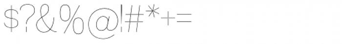 Madawaska UltraLight Font OTHER CHARS