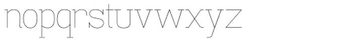 Madawaska UltraLight Font LOWERCASE