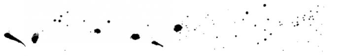 Madelinette Grande Rustica Ink Splatters Font LOWERCASE