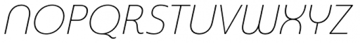 Madurai Normal Thin Italic Font UPPERCASE