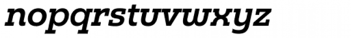 Madurai Slab Demi Italic Font LOWERCASE