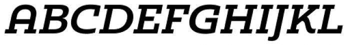 Madurai Slab Ext Bold Italic Font UPPERCASE