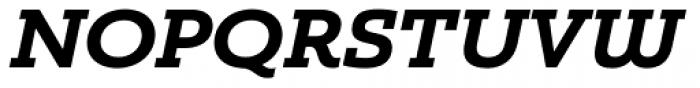Madurai Slab Ext ExtraBold Italic Font UPPERCASE