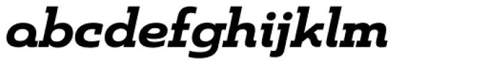 Madurai Slab Ext ExtraBold Italic Font LOWERCASE
