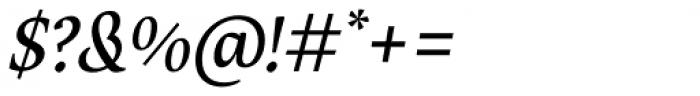 Maecenas Medium Italic Font OTHER CHARS