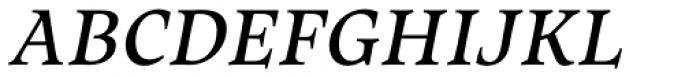 Maecenas Medium Italic Font UPPERCASE