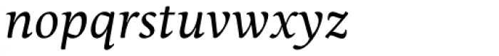 Maecenas Regular Italic Font LOWERCASE