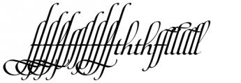 Maestro Ligatures Bold Font UPPERCASE