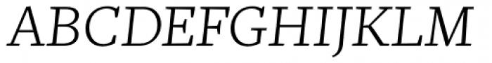 Mafra Light Italic Font UPPERCASE