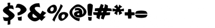 Mafuta Wide Font OTHER CHARS