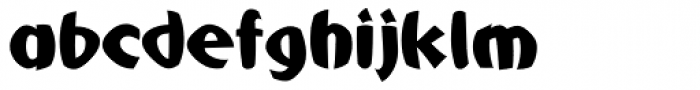 Mafuta Wide Font LOWERCASE