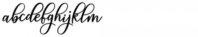 Magic Script Regular Font LOWERCASE