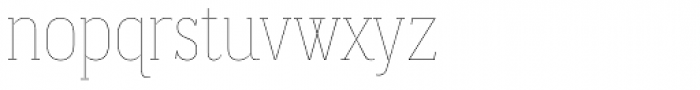 Magica Ruby V Thin Font LOWERCASE
