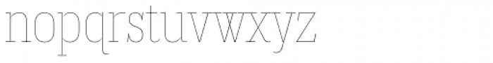 Magica Topaz V Thin Font LOWERCASE