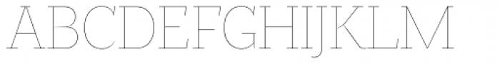 Magica Topaz X Thin Font UPPERCASE