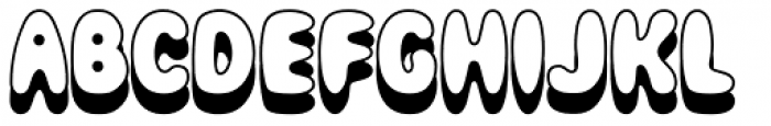 Magical Mystery Tour Outline Shadow Font UPPERCASE