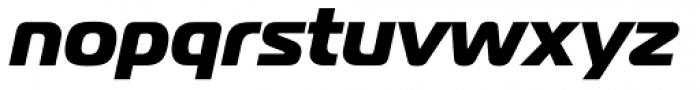 Magistral ExtraBold Italic Font LOWERCASE