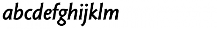 Magma II Semibold Italic Font LOWERCASE