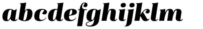 Magnel Display Black Italic Font LOWERCASE