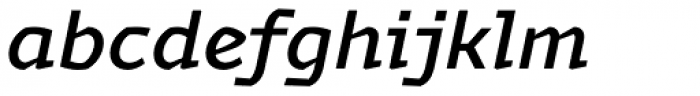 Magnetic Pro Medium Italic Font LOWERCASE