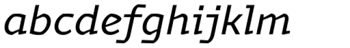 Magnetic Pro Regular Italic Font LOWERCASE