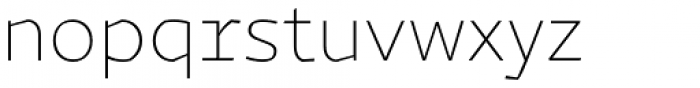 Magnetic Pro Thin Font LOWERCASE