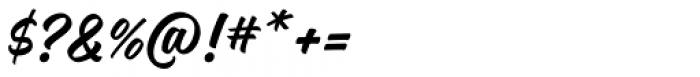 Magneton Bold Slanted Font OTHER CHARS