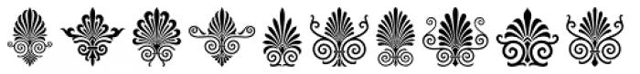 Magnificent Ornaments Font LOWERCASE
