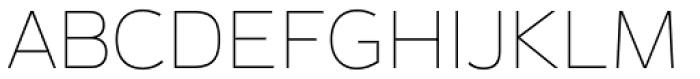 Magnum Sans Alfa Thin Font UPPERCASE