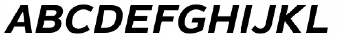 Magnum Sans Bold Oblique Font UPPERCASE