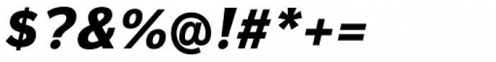 Magnum Sans Extra Bold Italic Font OTHER CHARS