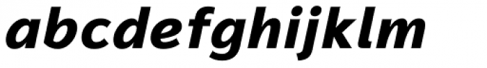 Magnum Sans Extra Bold Italic Font LOWERCASE