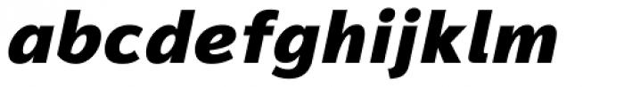 Magnum Sans Heavy Italic Font LOWERCASE