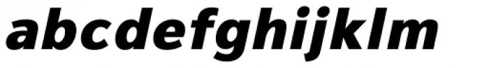 Magnum Sans Heavy Oblique Font LOWERCASE
