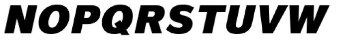Magnum Sans Pro Black Oblique Font UPPERCASE