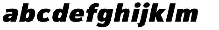 Magnum Sans Pro Black Oblique Font LOWERCASE