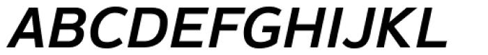 Magnum Sans Pro Semi Bold Italic Font UPPERCASE