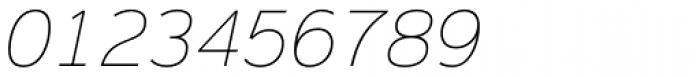 Magnum Sans Pro Thin Italic Font OTHER CHARS