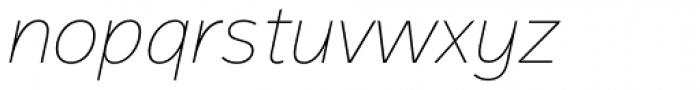 Magnum Sans Pro Thin Italic Font LOWERCASE