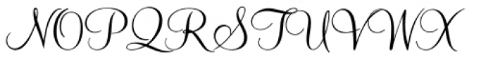 Mahogany Script Std Regular Font UPPERCASE