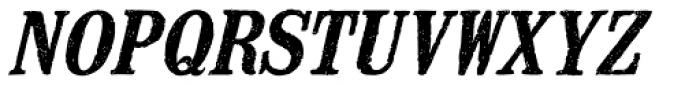 Mailart Rubberstamp Bold Oblique Font UPPERCASE