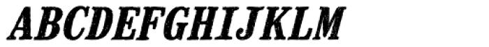 Mailart Rubberstamp Bold Oblique Font LOWERCASE