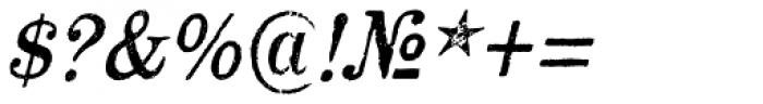 Mailart Rubberstamp Oblique Font OTHER CHARS