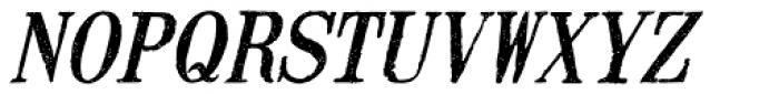 Mailart Rubberstamp Oblique Font UPPERCASE