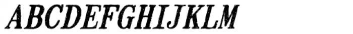 Mailart Rubberstamp Oblique Font LOWERCASE