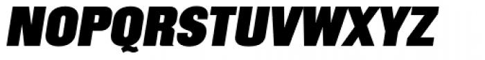 Mailuna Pro AOE Black Oblique Font UPPERCASE